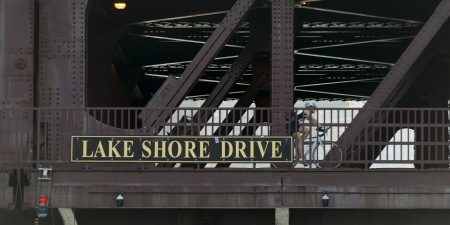 lake shore drive: Low angle view of a Bascule Bridge, Lake Shore Drive, Lake Michigan, Chicago, Cook County, Illinois, USA