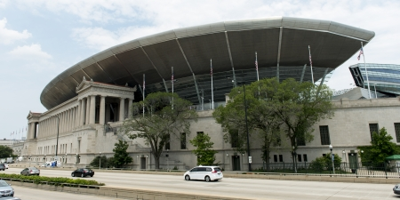 lake shore drive: Soldier Field Stadium on Lake Shore Drive, Chicago, Cook County, Illinois, USA
