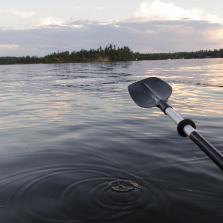 oar: Oar with view of Lake of The Woods, Ontario, Canada