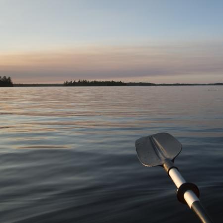 Oar, Lake of The Woods, Keewatin, Ontario, Canada Stock Photo