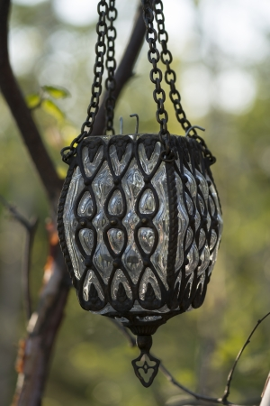 showpiece: Close-up of a lantern, Lake of The Woods, Keewatin, Ontario, Canada