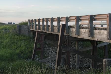 Wooden bridge, Manitoba, Canada