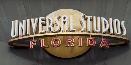 orlando: Entrance sign of the Universal Studios, Orlando, Florida, USA