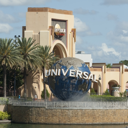 Entrance of the Universal Studios, Orlando, Florida, USA