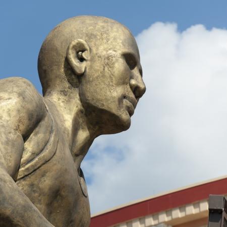 Low angle view of a statue, Universal CityWalk, Orlando, Florida, USA