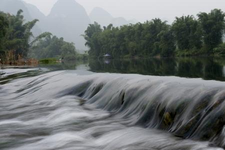 flowing water: Flowing water of Yulong River, Yangshuo, Guilin, Guangxi Province, China Stock Photo