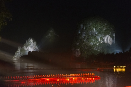 impressions: Impressions light show in the Yulong River, Yangshuo, Guilin, Guangxi Province, China