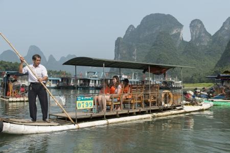placidness: Tourboats in the Li River, Xingping, Yangshuo, Guilin, Guangxi Province, China