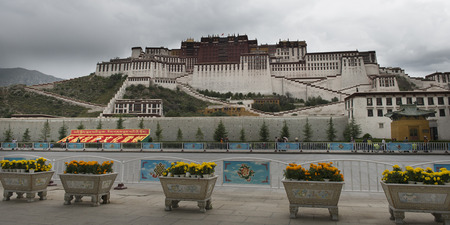 potala: Facade of the Potala Palace, Lhasa, Tibet, China
