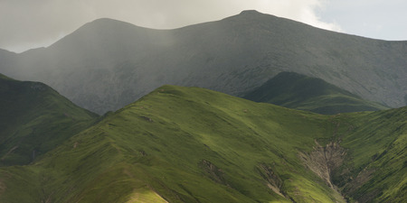 placidness: High angle view of mountains, Lhasa, Tibet, China