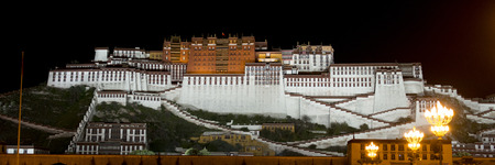 potala: Potala Palace at night, Lhasa, Tibet, China