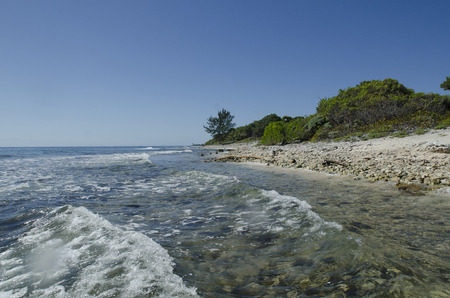 utopia: Waves on the beach, Utopia Village, Utila, Bay Islands, Honduras