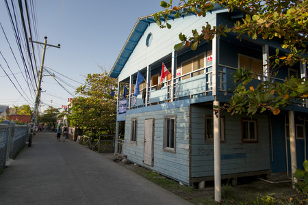 incidental people: House along the street, Utila, Bay Islands, Honduras