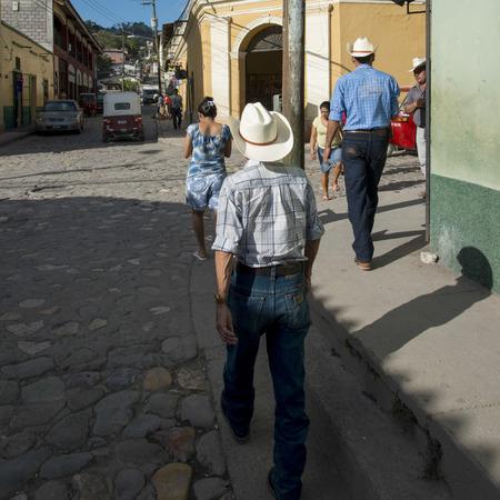 incidental people: People walking on a street, Copan, Copan Ruinas, Honduras