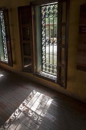 metal grate: Window of a house, Copan, Copan Ruinas, Honduras