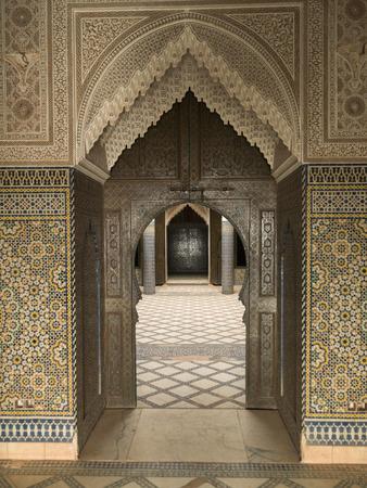 Architektonisches Detail eines Kasbah, Telouet, Ouarzazate, Marokko Standard-Bild - 28196795