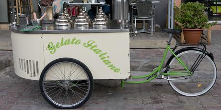 ice cream cart: Ice cream cart on a street, Marrakesh, Morocco Editorial