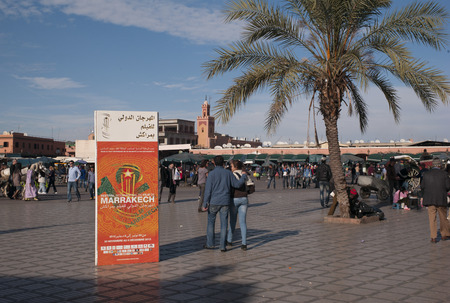 People at market square, Marrakesh, Morocco