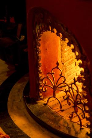 Fireplace at La Sultana Hotel, Marrakesh, Morocco 版權商用圖片