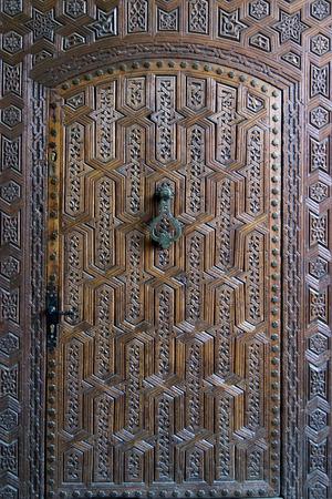 wood carving door: Detail of a door, Marrakesh Museum, Medina, Marrakesh, Morocco