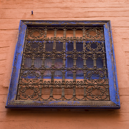 window grill: Low angle view of a window, Riad Dixneuf La Ksour, Marrakesh, Morocco