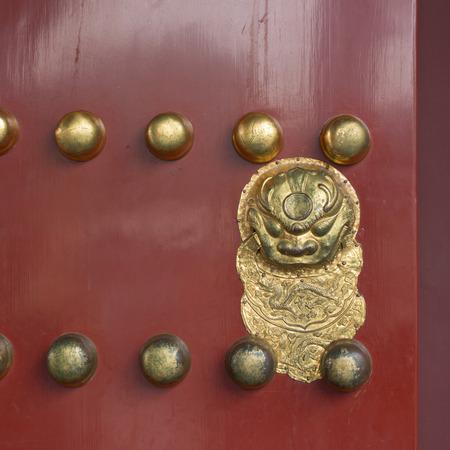 Detail of a door, Forbidden City, Xicheng District, Beijing, China