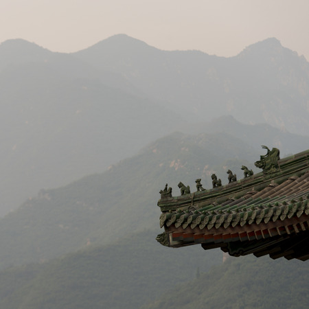 Juyongguan pass and section rooftop, Changping District, Beijing, China photo