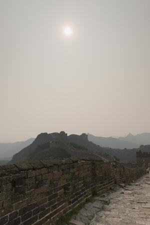 past civilization: Jinshanling section of Great Wall Of China, Miyun County, Beijing, China Stock Photo