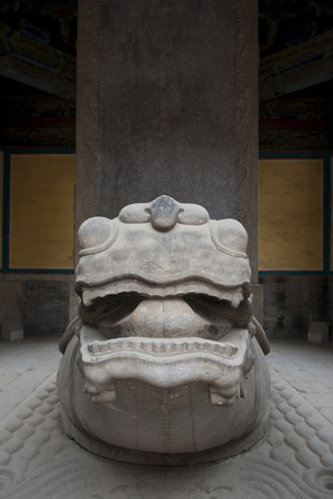 Guardian statue at Confucius Temple, Beijing, China