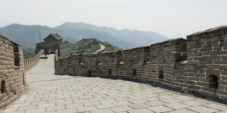 mutianyu: Mutianyu section of Great Wall Of China, Huairou District, Beijing, China Stock Photo