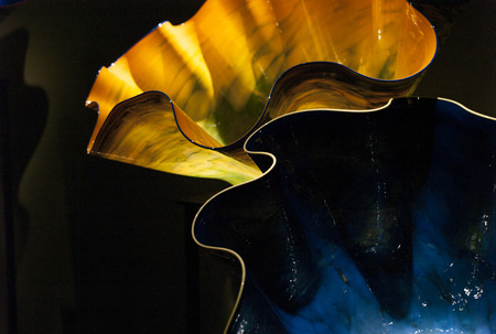 chihuly: Glass sculpture at the Chihuly Garden and Glass Museum, Seattle Center, Seattle, Washington State, USA