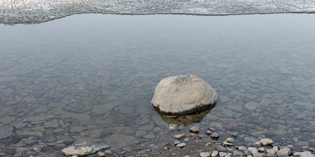 lake winnipeg: Stones along shoreline of Lake Winnipeg, Hecla Grindstone Provincial Park, Manitoba, Canada Stock Photo