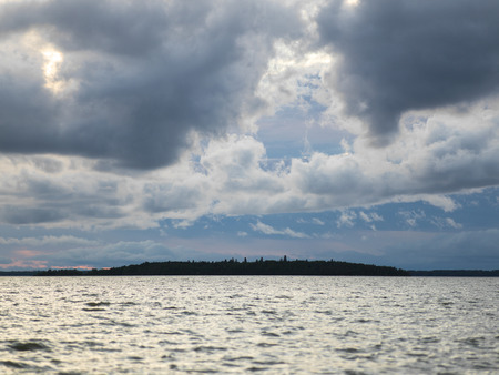 lake winnipeg: Clouds over Lake Winnipeg, Riverton, Hecla Grindstone Provincial Park, Manitoba, Canada