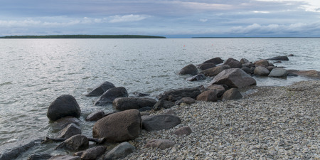 lake winnipeg: Rocks along shoreline, Lake Winnipeg, Riverton, Hecla Grindstone Provincial Park, Manitoba, Canada