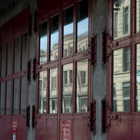 washington state: Closed exterior doors of a building, Seattle, Washington State, USA