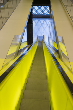 public library: Escalators in Seattle Central Library, Seattle, Washington State, USA