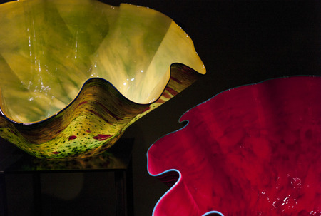 chihuly: Glass sculptures at the Chihuly Garden and Glass Museum, Seattle Center, Seattle, Washington State, USA Stock Photo