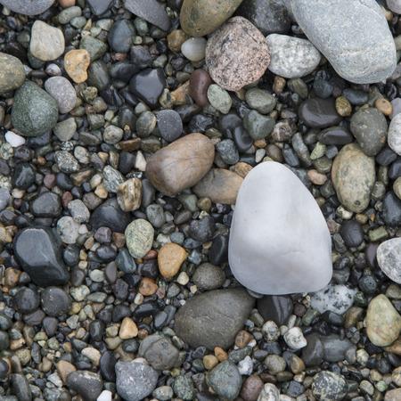 Close-up of pebbles, Deception Pass State Park, Washington State, USA photo