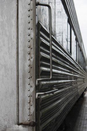compartment: Side view of a Locomotive at Northwest Railway Museum, Snoqualmie, Washington State, USA Stock Photo