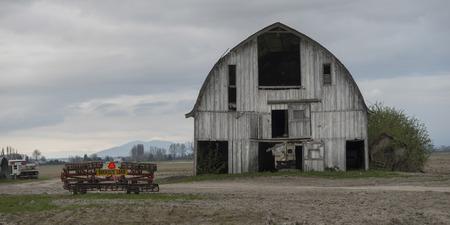 skagit: Barn in a field, Mount Vernon, Skagit County, Washington State, USA Stock Photo