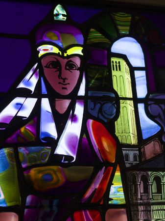 likeness: Full frame shot of paintings on stained glass window, Venice, Veneto, Italy