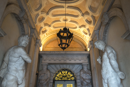 Statues at Doges Palace, Venice, Veneto, Italy