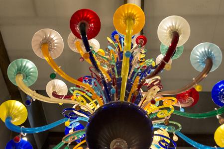 murano: Murano glass chandelier, Murano, Venice, Veneto, Italy