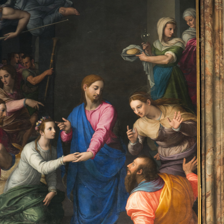 likeness: Fine art painting in church, Florence, Tuscany, Italy