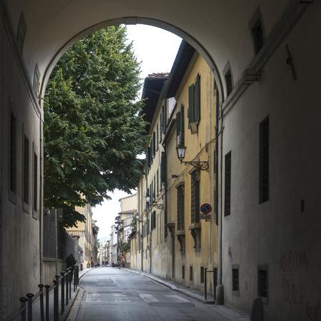 életmód: Épületek mentén utca, Firenze, Toszkána, Olaszország