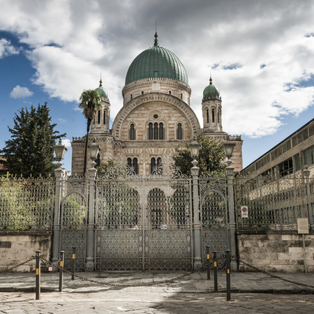seperated: Facade of the Great Synagogue of Florence, Florence, Tuscany, Italy Stock Photo