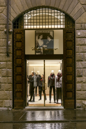 entranceway: Entrance of a clothing store, Florence, Tuscany, Italy