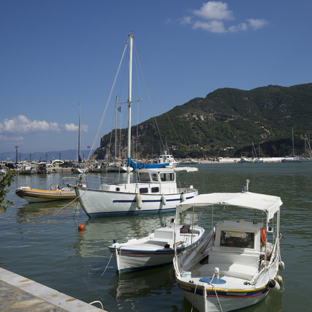 Boats at marina, Thessalia Sterea Ellada, Skopelos, Greece