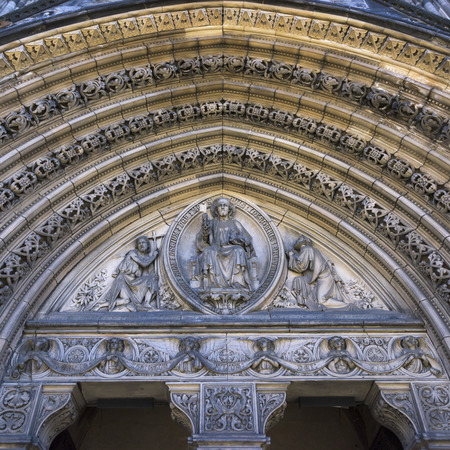 marys: Architectural detail of the St. Marys Cathedral, Edinburgh, Scotland