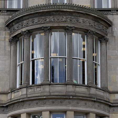 princes street: Architectural detail of building, Princes Street, Edinburgh, Scotland